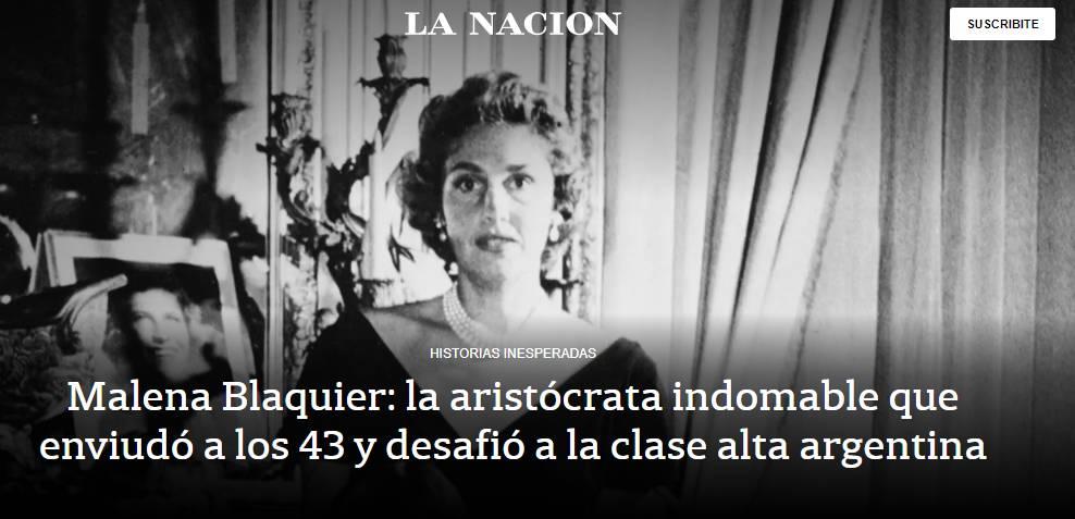 'LA NAZION PARAFRASEA A GINETTE REYNAL PARA ROMANTIZAR EL TRAUMA DEL EMPOBRECIMIENTO DE LOS BLAQUIER'