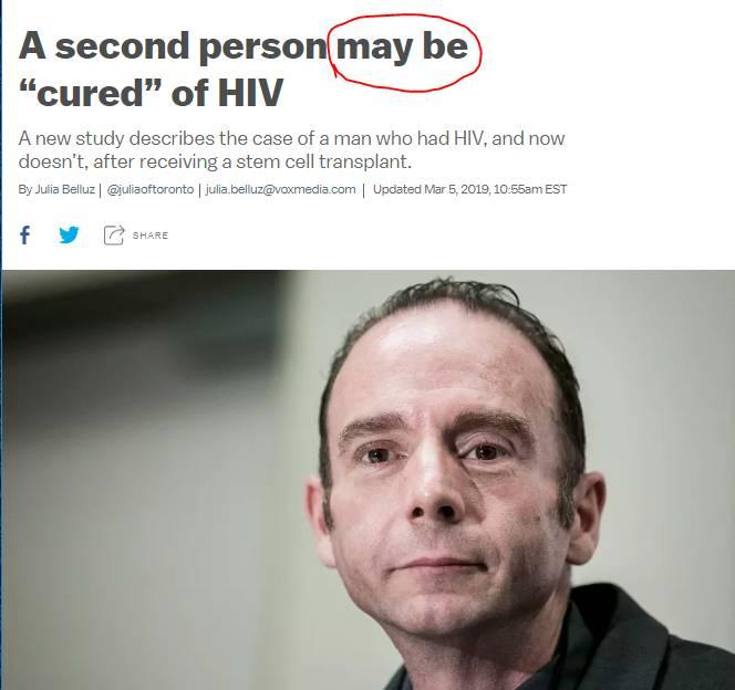 ES MALIGNO DECIR QUE HAY CURA PARA EL HIV