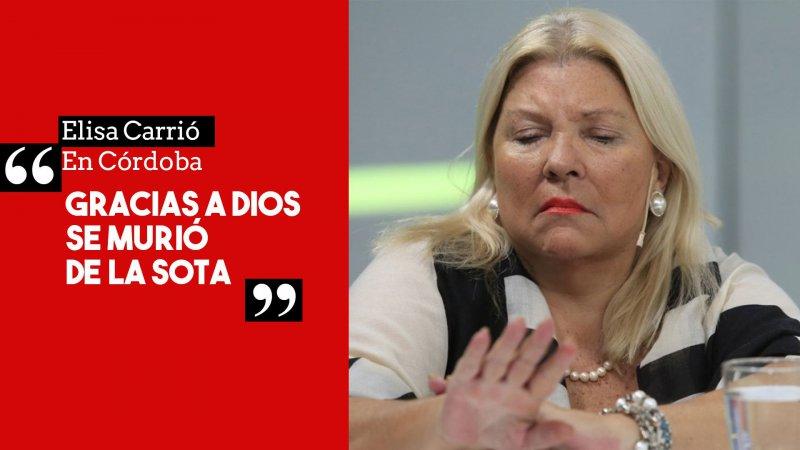 CARRIÓ EMPASTILLÁNDOSE DE LO LINDO ANTES DE MANDARSE EL EXABRUPTO SOBRE DE LA SOTA