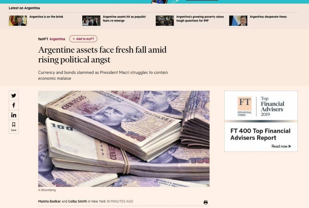FINANCIAL TIMES: 'ARGENTINA IS ON THE BRINK'