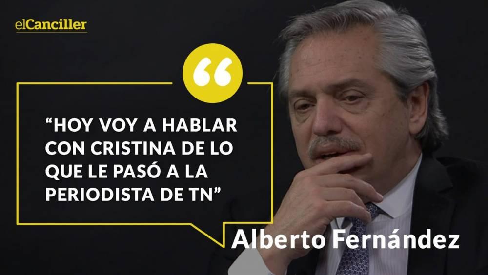 ALBERTO FERNÁNDEZ, SOBRE CLARÍN: 'SERÍA BUENO QUE DEJEN EL PERIODISMO DE GUERRA Y SE OCUPEN DE VOLVER A HACER PERIODISMO'
