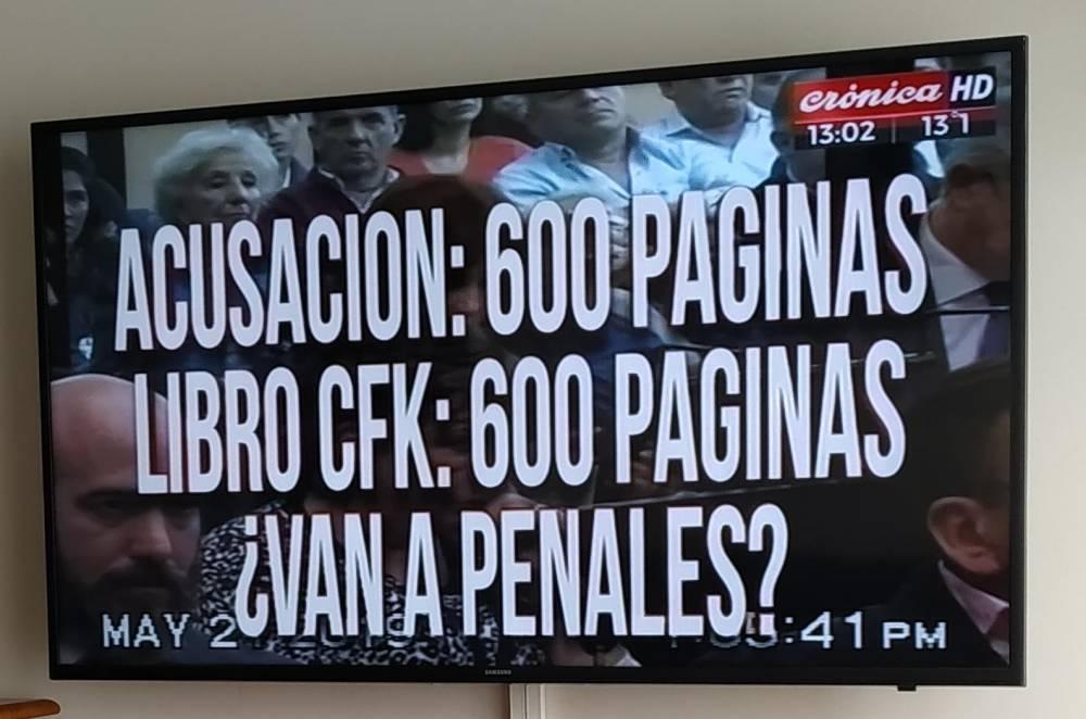 LAS PLACAS DE CRÓNICA DURANTE EL PRIMER DÍA DE LAWFARE FARSA