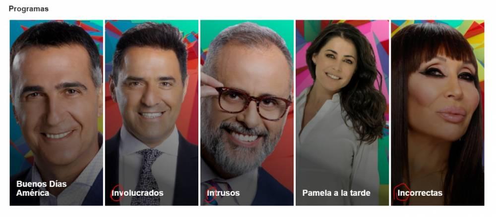 LA OBSESIÓN DE AMERICA TV POR LOS PROGRAMAS QUE EMPIEZAN CON 'IN'