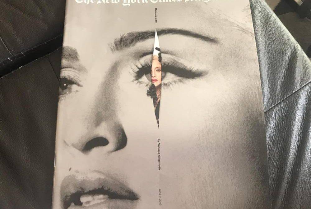 LA ESPECTACULAR PRODUCCIÓN FOTOGRÁFICA DE JR PARA EL ARTÍCULO DE MADONNA EN LA REVISTA DEL NEW YORK TIMES