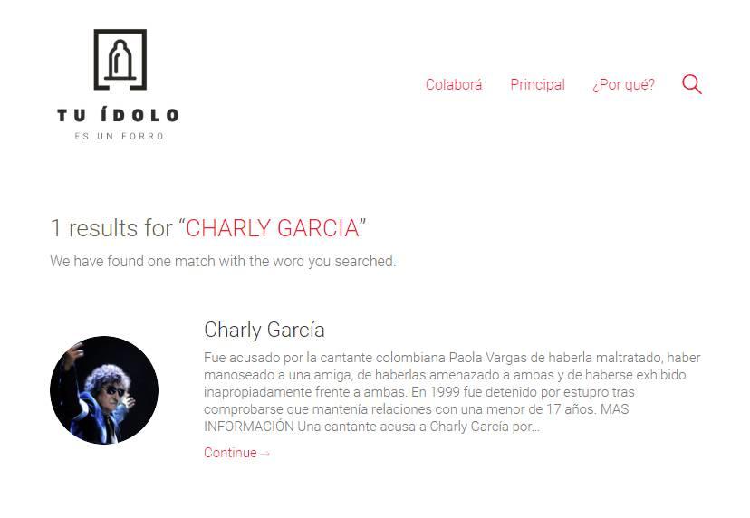 'CHARLY LE PAGABA A UNA COMPAÑERA DE LABURO'