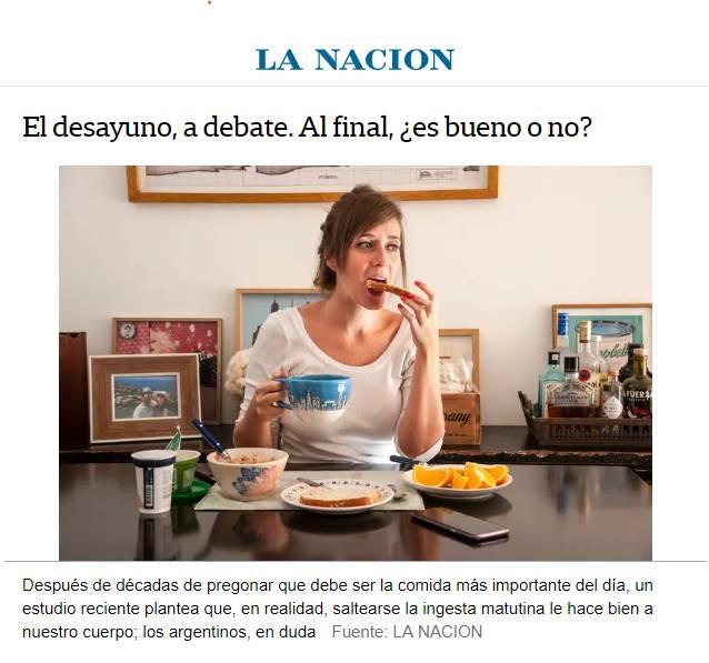 LA NAZION MILITANDO EL AJUSTE, AHORA, A SALTEARSE EL DESAYUNO