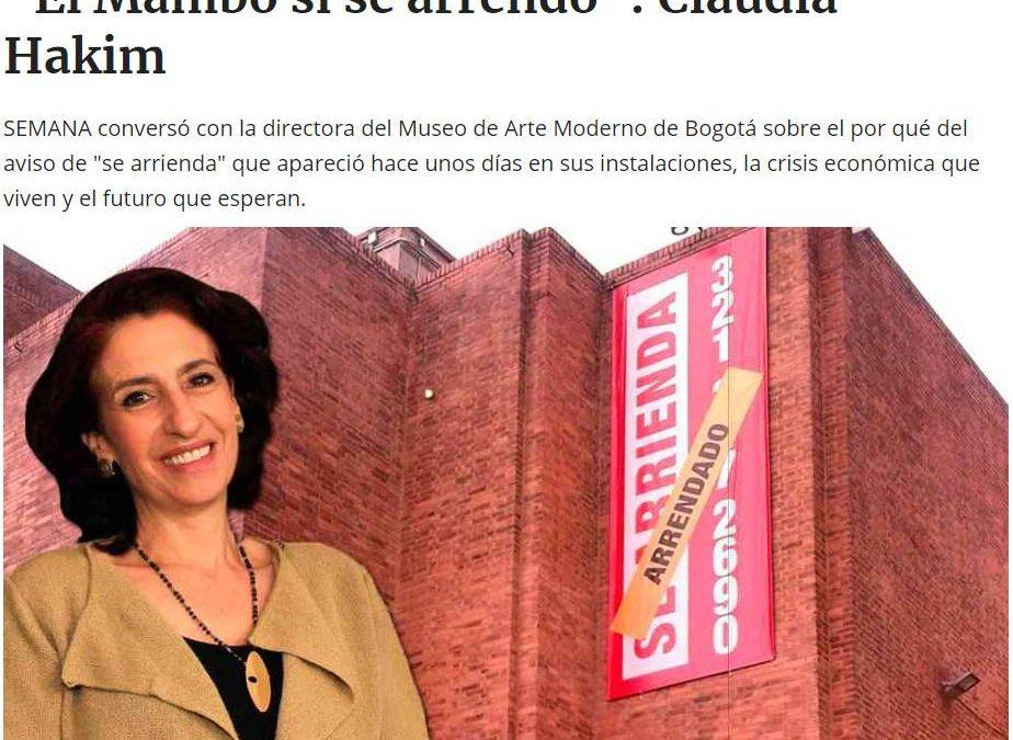 'EL PLAGIO DOBLE DE LEANDRO ERLICH AL MUSEO MAMBO DE BOGOTA Y A LILIANA MARESCA'