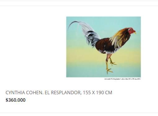 'EL QUE PAGUE ESOS PRECIOS POR CYNTHIA COHEN TIENE CACA EN LA CABEZA'