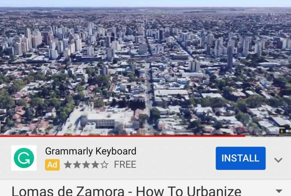 LOMAS DE ZAMORA CASO EJEMPLAR DE URBANISMO DE SUBURBIA PARA GOOGLE MAPS (A LA PAR DE GLASGOW Y NYC)