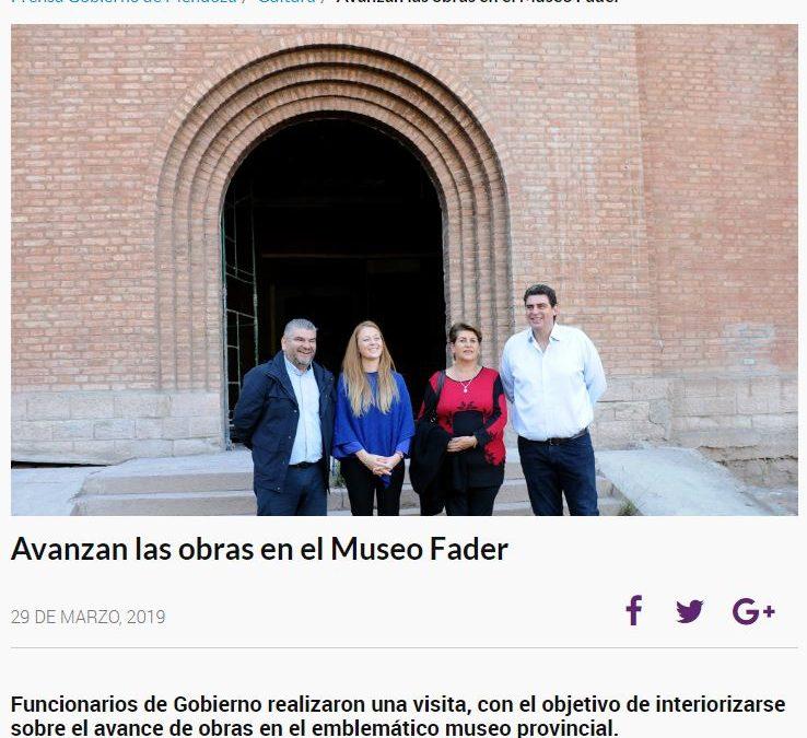 'SIN RESGUARDAR LAS PINTURAS DE SU COLECCIÓN, RESTAURAN EN MENDOZA EL MUSEO FADER'